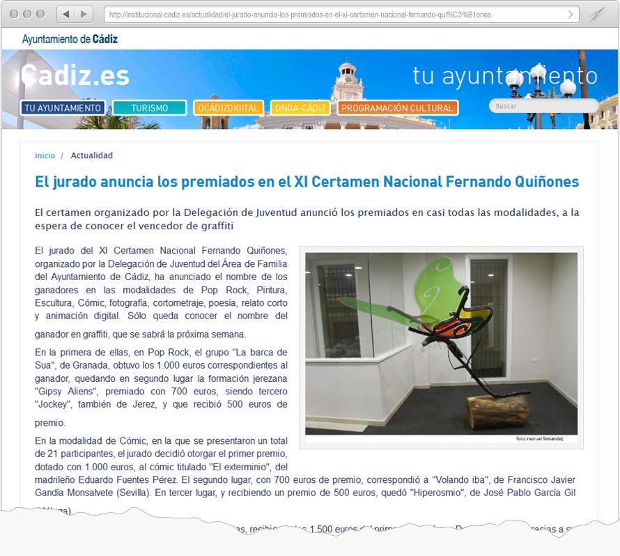 Certamen Fernando Quiñones Cadiz