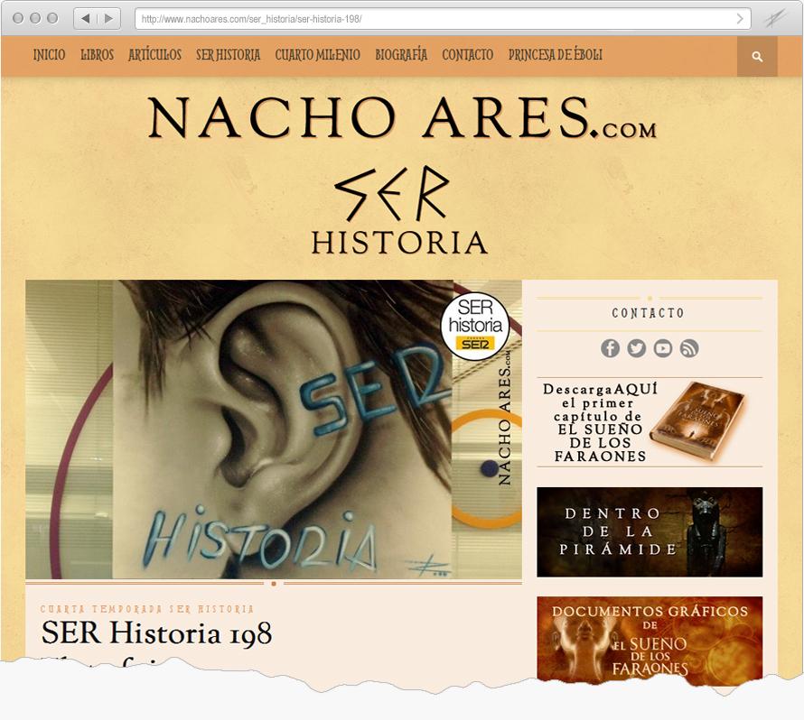 SER HISTORIA, Nacho Ares