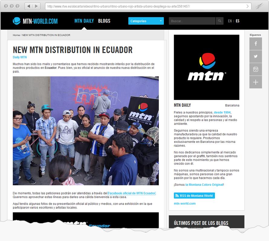 Presentación de Montana Colors en Ecuador