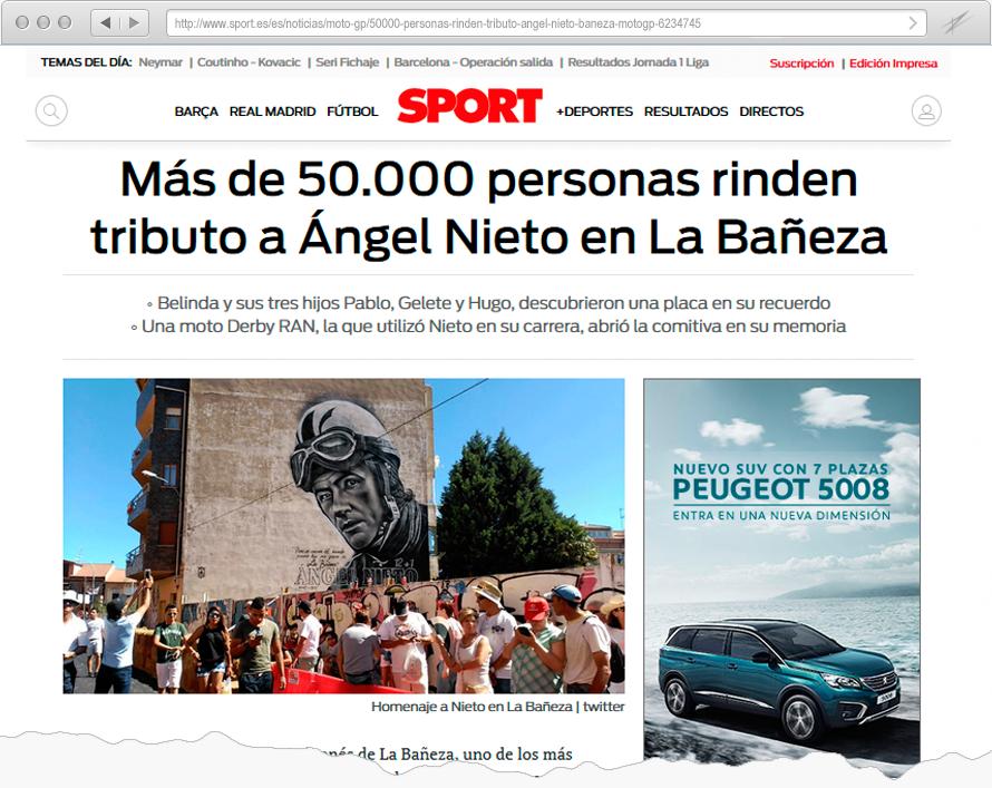 Tributo a Ángel Nieto en La Bañeza