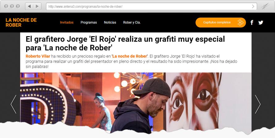 Grafiti para La noche de Rober